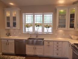 Kitchen Hardware For Cabinets White Shaker Style Kitchen Cabinets With Hickory Hardware Studio
