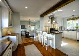 Kitchen And Dining Room Flooring Dazzling Open Plan Kitchen Design Inspiration Offer Floor To