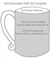 hot chocolate mug writing template. Delighful Mug Hot Cocoa Wall Decor With Chocolate Mug Writing Template