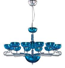 8 light murano glass chandelier fioino