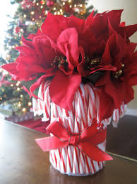 Christmas Decorations With Candy Canes Candy Cane Vase Candy Cane Vase Vase Ideas Table Centerpiece 82