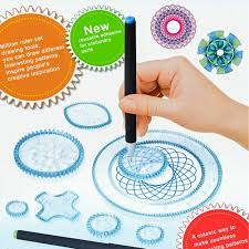 How To Use Spirograph Design Set Details About 22pcs Original Spirograph Design Set Tin Draw Drawing Art Craft Create Toys Diy