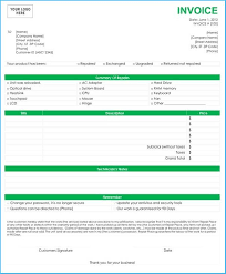 Computer Invoice Software Attractive Computer Invoice Template To Make Free Printable