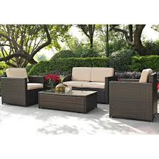 sand and brown 4 piece wicker furniture set palm harbor rc willey furniture