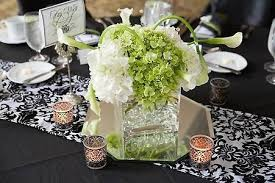green white wedding centerpieces