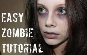easy zombie makeup you