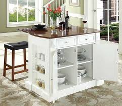 white portable kitchen island. Movable Kitchen Island With Breakfast Bar In White Finish Portable T