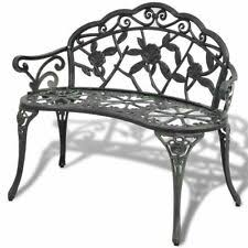 Cast Aluminium Garden in Garden <b>Benches</b> for sale | eBay