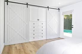 barn doors for closets amazing the master bedroom incorporates an ingenious door closet system interior design