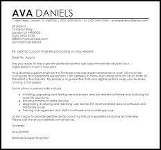 desktop support engineer cover letter sample cover letter for it support