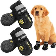 Qumy Dog Boots Size Chart Llnstore Dog Shoes Dog Boots Rain Boots For Medium Large Dogs With Adjustable Reflective Straps Anti Slip Sole Windproof 6 Black