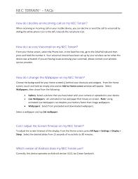 NEC TERRAIN – FAQs - NEC Corporation of ...