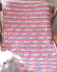 Free Crochet Baby Afghan Patterns Simple Free Pattern] Super Easy And So Precious BlockStitch Baby Blanket