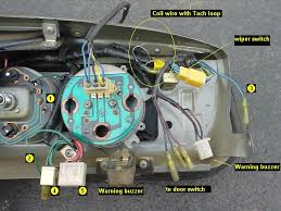 tech wiki tachometer wiring datsun 1200 club pull the bw dash harness wires apart at the connectors and plug them into the bw loop of the tachometer