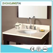 engineered artificial customized quartz stone bathroom vanity top with sink