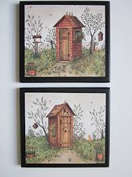 outhouse bathroom plaques his hers 2 piece set rustic country outhouses  on primitive outhouse bathroom wall art set of 3 with amazon outhouse bathroom plaques his hers 2 piece set