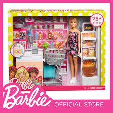 barbie supermarket set blonde