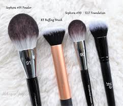sephora collection pro featherweight brush parison review real techniques buffing dupe 90 plexion