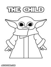 Printable coloring page for the mandalorian and baby yoda. The Child Baby Yoda Party Printables Skgaleana