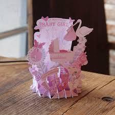 Babygirl Cards Baby Girl Baby Boy Shower Birthday Party 3d Pop Up Handmade Birthday Greeting Card Designs Printing Bulk Gift Cd077