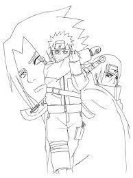 Naruto Cartoon Coloring Pages Naruto Cartoon Coloring Pages