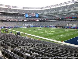 metlife stadium section 108 view