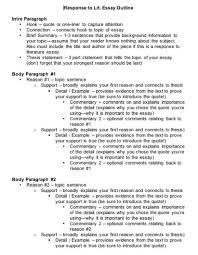 response to literature essay format com  12 response to literature essay format