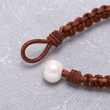 aobei pearl leather cord pearl glass beads knot bracelet leather bracelet pearl bracelet ets b378