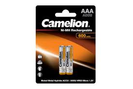 Аккумуляторная <b>батарейка Camelion AAA</b>- 600mAh — купить в ...