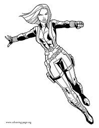 Small Picture Captain America Black Widow coloring page