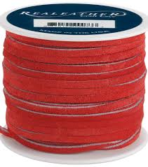 silver creek leather co suede lace 1 8 u0022x25 yards red