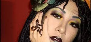 create a y medusa makeup look for