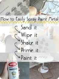 painted furniture blogsBest 25 Painting metal furniture ideas on Pinterest  Paint metal