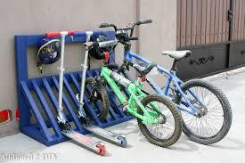 diy kid s bike rack with helmet