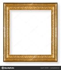 vintage gold frame isolated stock photo