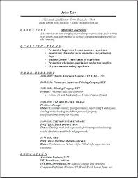 Shipping And Receiving Resume Sample Best Of Shipping Resume Sample Lespa