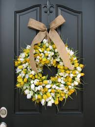 spring front door wreathsTulips Front Door Wreath Door Wreaths Spring Tulips Mothers Day