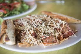 the spaghetti and meat are at schmizza pub grub in salmon creek ariane kunze