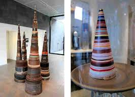 Tony Cragg Ice Cream Cone, inspired by the artist's 1987 sculpture Guglie,  uses salted