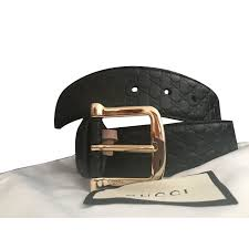 gucci belt belts leather black ref 73931