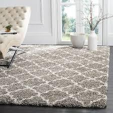 rug quatrefoil gray ivory plush area rugs 3x5 deep pile modern room decor