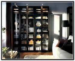 ikea billy bookcase with glass doors h o m e ikea stylish black bookcase with doors
