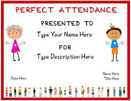 free perfect attendance certificate ornate attendance certificate of template free award jordanm co