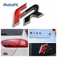 Car styling for Seat Ibiza FR Leon 2 Aluminium Emblem Cupra Altea ...