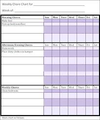Printable Chore Charts For Compatible 9 Best Of Expert