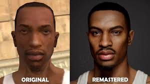 GTA San Andreas Carl Johnson Remastered - 3D Model of Carl Johnson (Real  Time) - Next Gen Graphics - YouTube