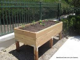 diy raised planter box plans great how to build a ve able planter box variations on