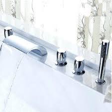 what is a roman tub faucet deck mounted waterfall roman bathroom tub faucet hand shower sprayer