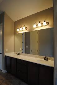 Bronze Mirror Bathroom Ideal Placed Bronze Vanity Lights New Lighting