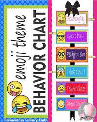 Emoji Theme Behavior Clip Chart Editable Behavior Clip